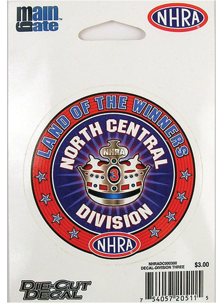 Small Division Three/North Central Division Decal