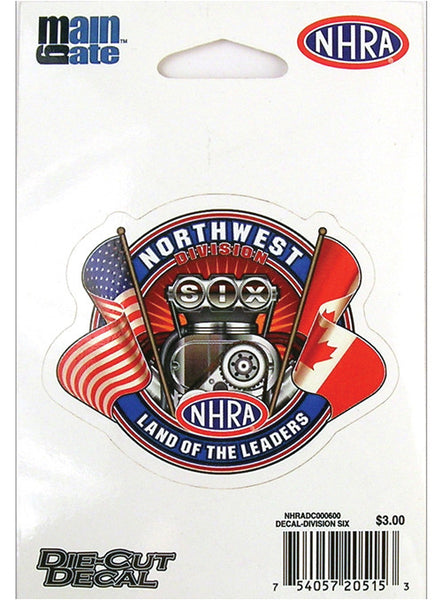 Small Division Six/Northwest Division Decal