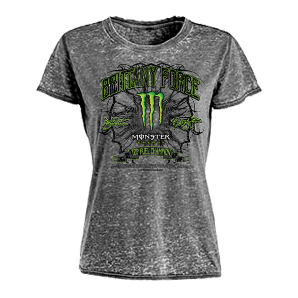 Brittany Force Ladies Distressed T-Shirt