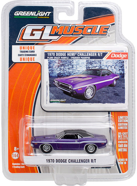 1970 Dodge Challenger Purple/Green 1:64