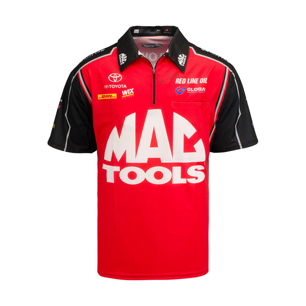 Doug Kalitta Mac Tools Vintage Signed Crew Shirt