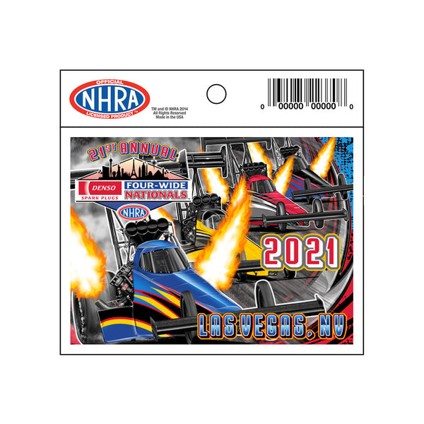 21st Annual DENSO Spark Plugs NHRA Four-Wide Nationals Event Decal