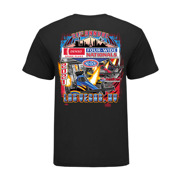 21st Annual DENSO Spark Plugs NHRA Four-Wide Nationals Event T-Shirt
