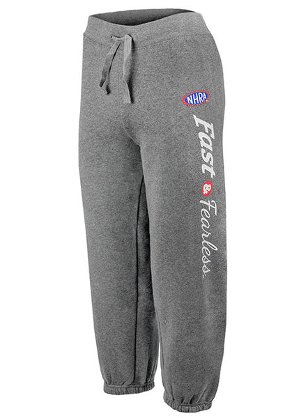 NHRA Fast & Fearless Ladies Fleece Capri Pants