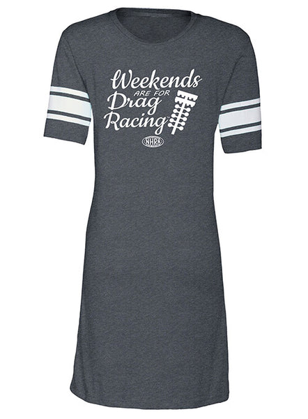 Weekends Are For Racing Ladies T-Shirt Dress