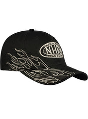 NHRA Flex-Fit Tonal Black Flames Hat