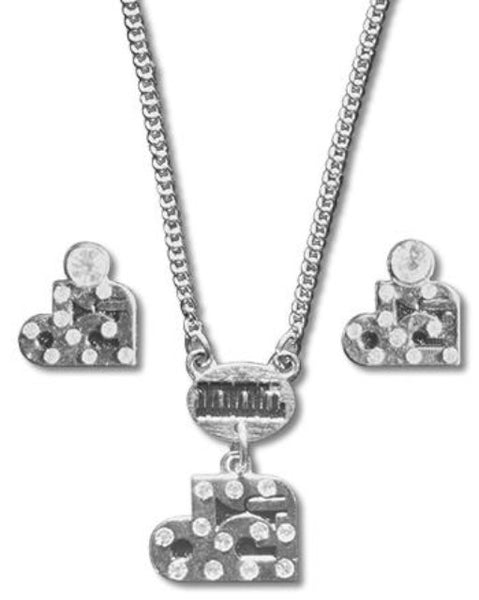 Drum Corps International Necklace and Earring Set
