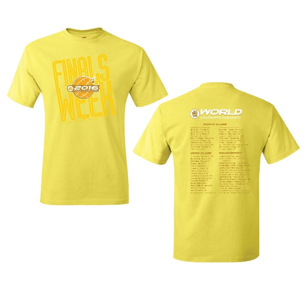 2016 Yellow World Champs T-Shirt