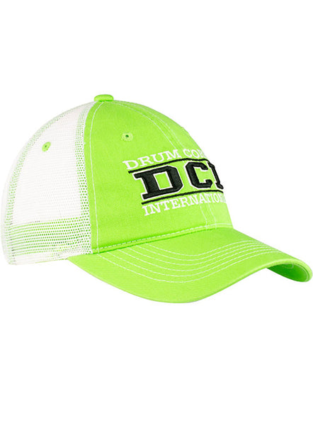 DCI Bright Green Meshback Hat