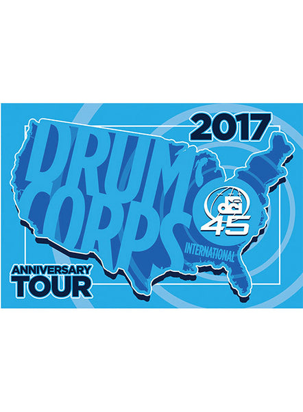 DCI 2017 Tour 45th Anniversary Decal