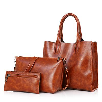 Women's 3 Piece Biker Handbag Set