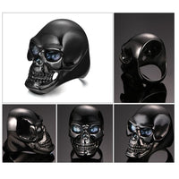 Men's Black Skull Ring