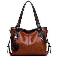 Women's Genuine Leather Tote Handbag for Bikers