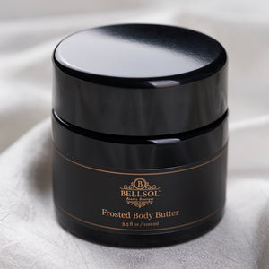 Bellsol Frosted Body Butter a luxurious natural body butter. Moisturizing for dry skin. Best lotion for glowing skin. Best lotion for dry hands.