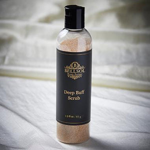 Bellsol Deep Buff scrub is a luxurious powder scrub with Apricot Seeds and Rosehip Seeds. Best body scrub to remove dead skin. Best body scrub for glowing skin.