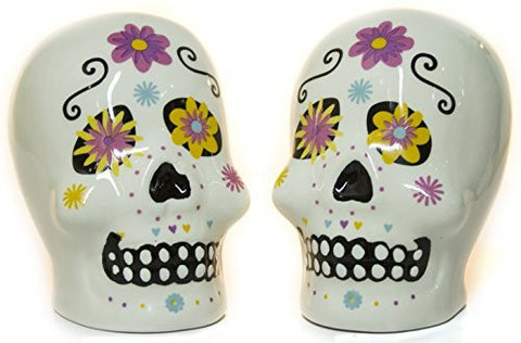 Ganz Day of the Dead Ceramic Salt and Pepper Shakers