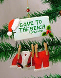 Santa Claus Gone to the Beach Christmas Ornament