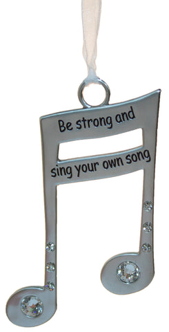 3 Inch Music Lover's Life Is Music Zinc Ornament - Sing Your Own Song