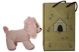 5 Inch Pink Poodle Plush Dog With Doggie Bag
