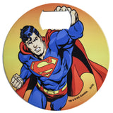 "DC Comics Stainless Steel 3.75"" Superman Graphic Bottle Opener Coaster"