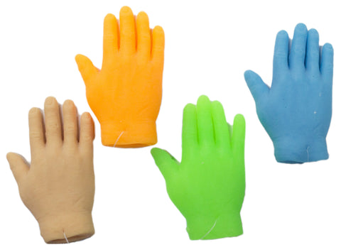 Set Of 4 Assorted Color 2.5 inch High Five Latex Finger Puppets