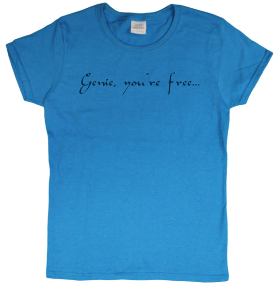 Genie, You're Free Robin Williams Tribute Ladies T-Shirt