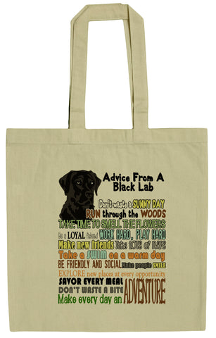 Advice From A Black Lab Labrador Retriever Canvas Tote Bag