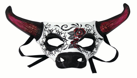 Costume Accessory - Day Of The Dead Cow Half Mask