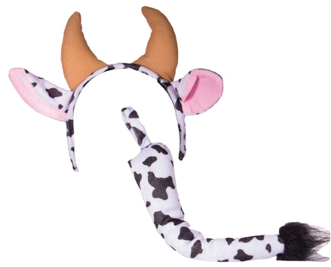Costume Kit - Cow Headband and Tail