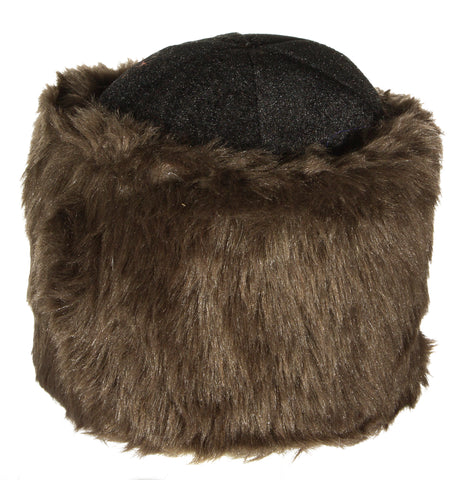 Costume Accessory - Furry Russian Ushanka Hat with Flexible Inner Band
