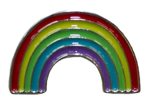 Hat Lapel Flair Tie Metal Pin With Colorful Enamel -Rainbow