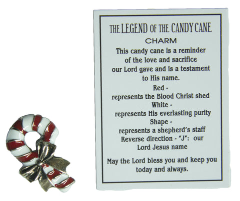 The Legend of the Candy Cane Charm With Story Card!