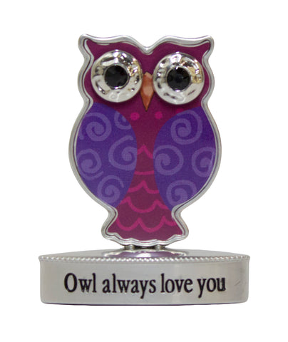 2 Inch Happy Little Owl Figurine W/ Colorful Enamel - Owl Always Love You