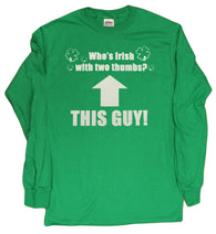 Who's Irish With Two Thumbs? This Guy! Funny Boys 4-16 Youth Long Sleeve Shirt