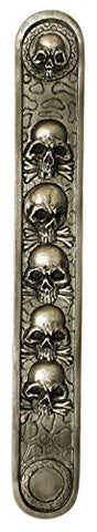 10 Inch Resin Incense Burner/Ash Catcher with Detailed Skull Design