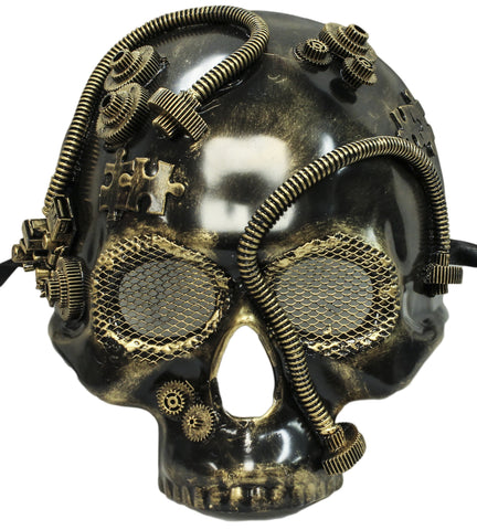 Steampunk Gold Skull Plaster Mask (75994)