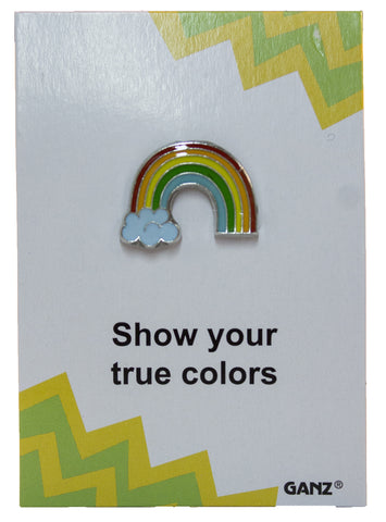 Pin It! Lapel Pin Hat Pin Tie Tack with Colorful Enamel and Funny Pun- Rainbow