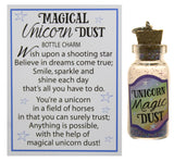 Magical Unicorn Dust 1.5 Inch Bottle Charm With Magic Glitter- Wishes