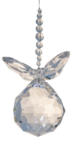 Crystal Expressions Acrylic 5.5 Inch Facet Ball Butterfly Ornament/ Sun-Catcher