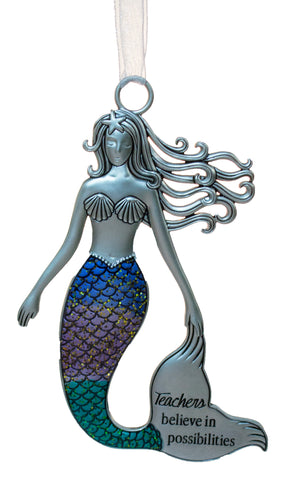 3.5 Inch Zinc Mermazing Mermaid Ornament- Teachers