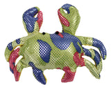 4.5 Inch Sand Filled Rainbow Glitter Plush Crab Toy/ Paperweight