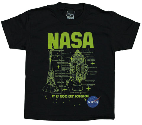 Unisex Kids 4-20 NASA Apollo Module It Is Rocket Science Youth T-Shirt