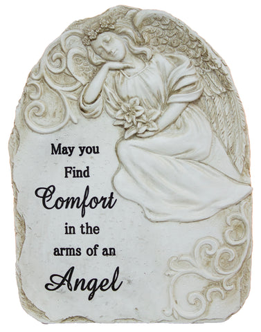"7.5 Inch tall Polystone Memorial Stone ""May you find comfort…"""