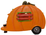 5.5 Inch Light Up Pumpkin Pull Behind Camper Trailer Halloween Decoration