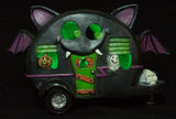 5 Inch Light Up Bat Pull Behind Camper Trailer Halloween Decoration