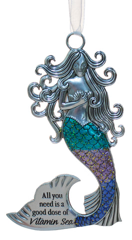3.5 Inch Zinc Mermazing Mermaid Ornament- Vitamin Sea