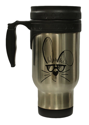 Funny Easter Sunglass Bunny 12 Ounce Stainless  Hot Cold/ Travel Mug