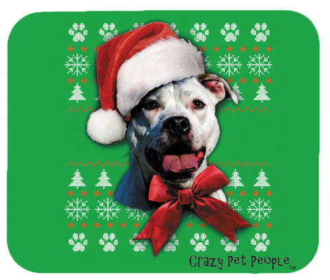 Dog Lovers Pitbull Ugly Sweater Christmas Design Mouse Pad