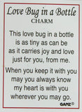 Love Bug In A Bottle - Ladybug Inside A Wearable Bottle Charm