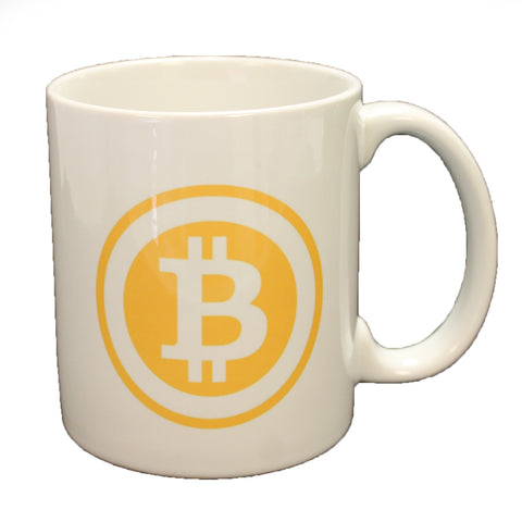 Bitcoin Logo Double Sided Coffee Mug Microwave & Dishwasher Safe!